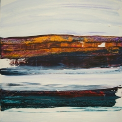Deep rock and sky 1 50x50cms